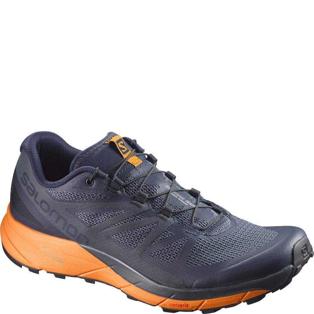 Image for Salomon Men's Sense Ride Hiking Shoes - Navy/Orange from bootbay