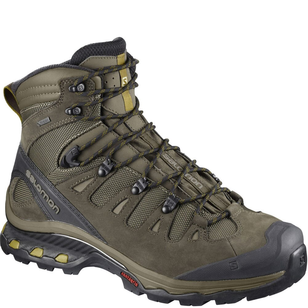 Image for Solomon Men's Quest 4D 3 GTX Hiking Boots - Green from bootbay