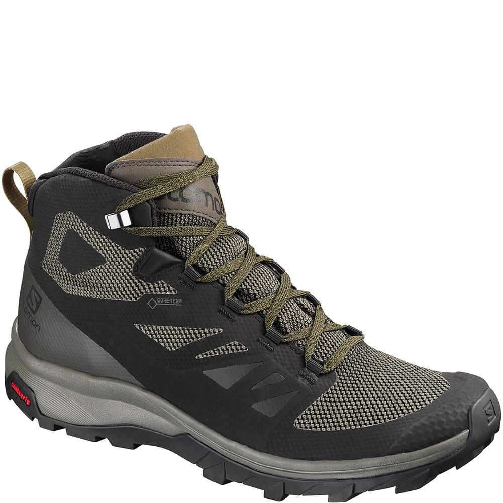 Image for Salomon Men's Outline Mid GTX Hiking Boots - Black/Bulga from bootbay