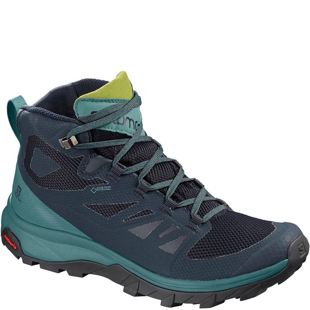 Image for Salomon Women's Outline Mid GTX Hiking Boots - Navy Blazer from elliottsboots