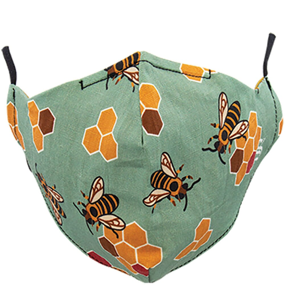 Image for Socksmith Unisex Busy Bees Face Mask - Seafoam from bootbay