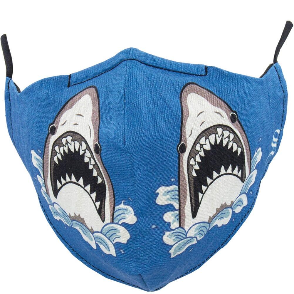 Image for Socksmith Unisex Shark Attack Face Mask - Blue from bootbay