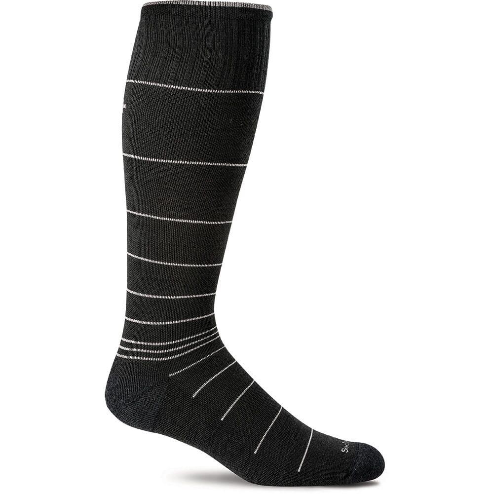 Image for Sockwell Men's Circulator Socks - Black Stripe from bootbay