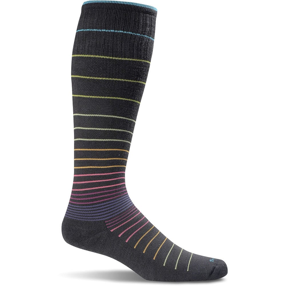 Image for Sockwell Women's Circulator Socks - Black Stripe from bootbay