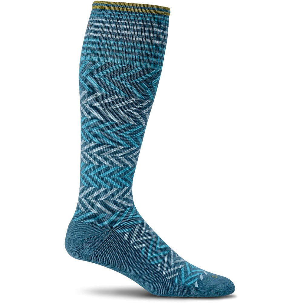 Image for Sockwell Women's Chevron Socks - Teal from bootbay