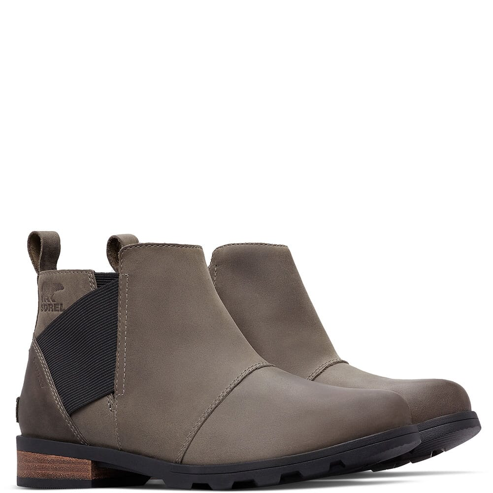 Image for Sorel Women's Emelie Chelsea Casual Boots - Quarry/Black from bootbay