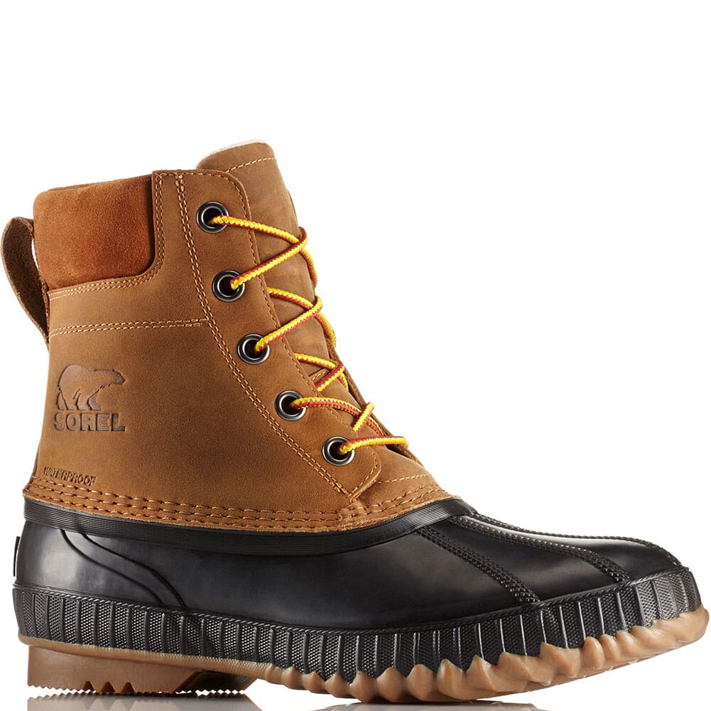 Image for Sorel Men's Cheyanne II Lace Duck Boots - Chipmunk/Black from elliottsboots