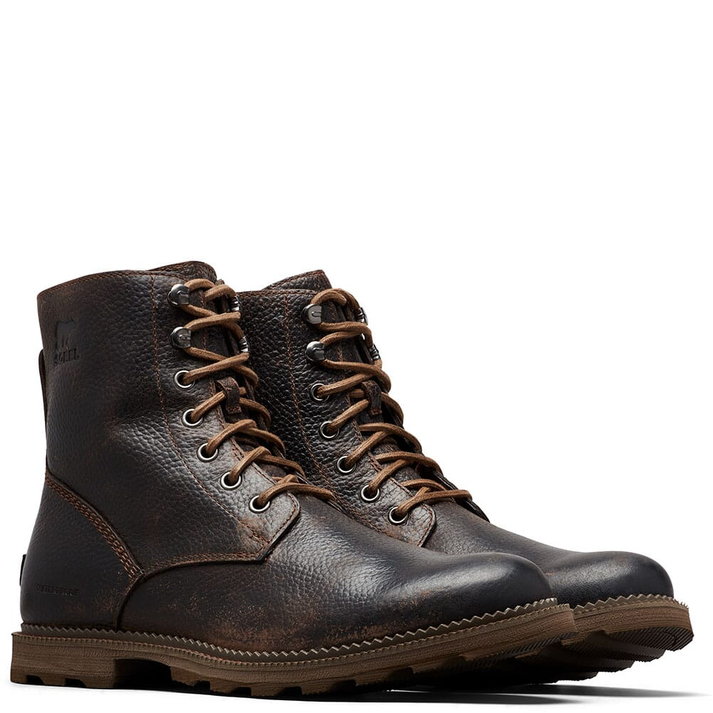 Image for Sorel Men's Madson WP Casual Boots - Black/Ancient Fossil from bootbay