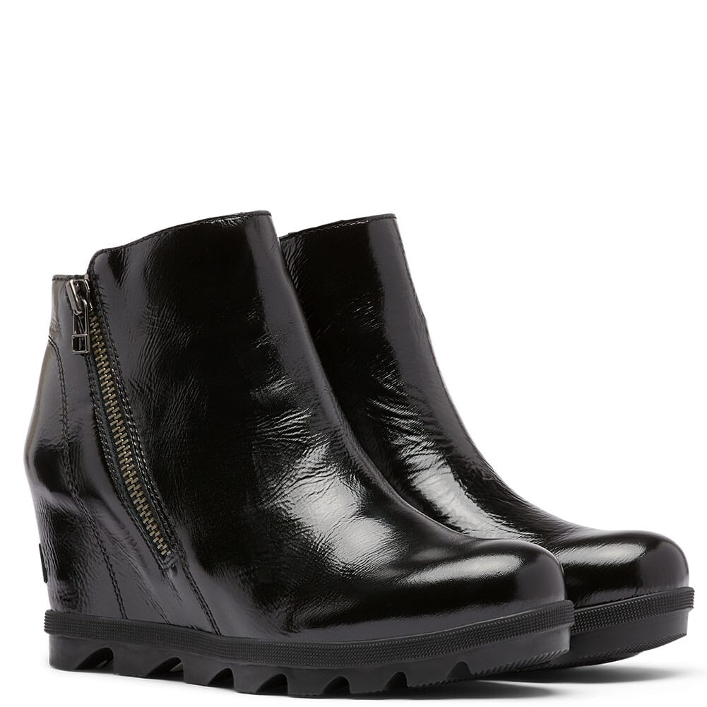 Image for Sorel Women's Joan Of Arctic Wedge II Zip Boots - Patent Black from bootbay