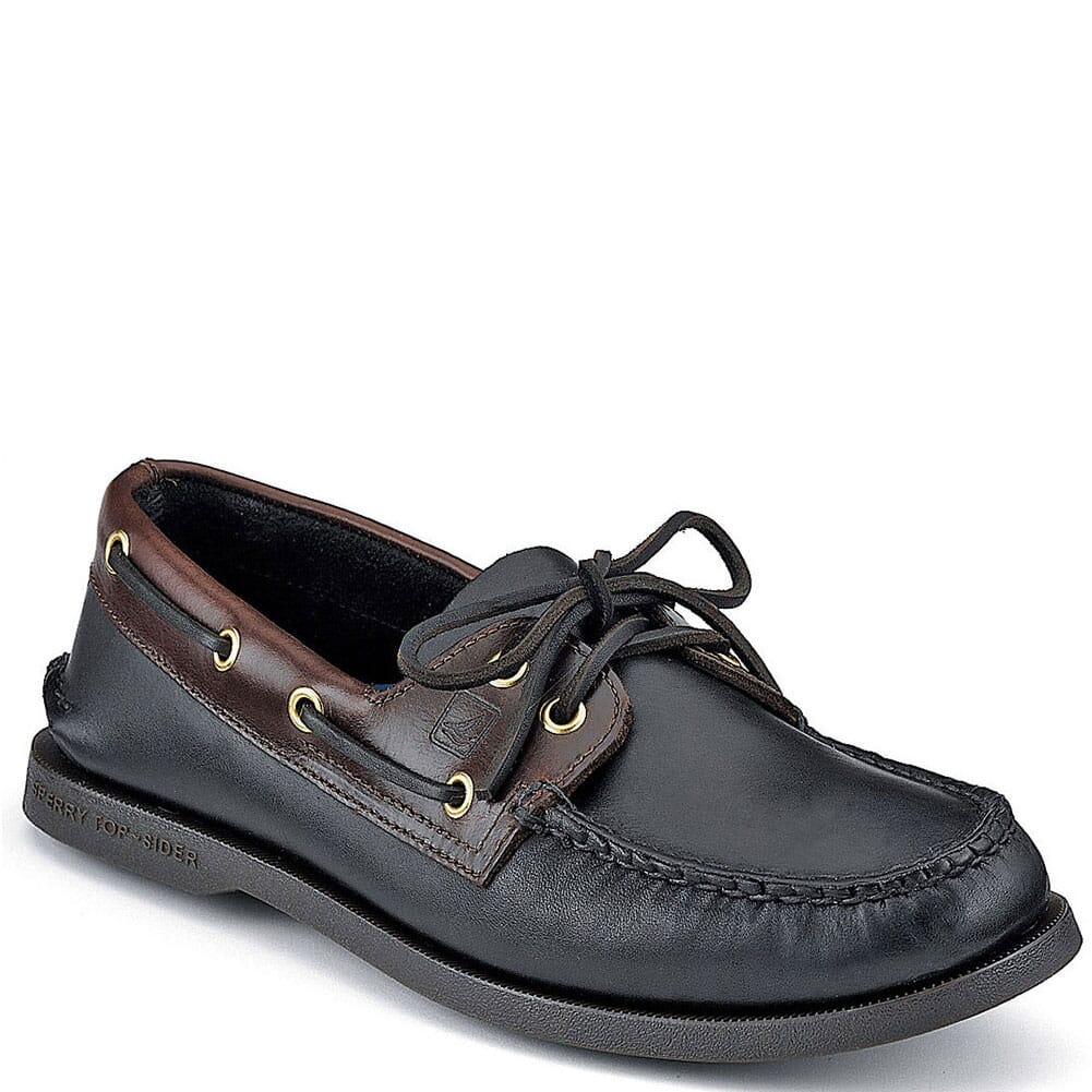 Image for Sperry Men's Authentic Original 2-Eye Boat Shoes - Black from bootbay