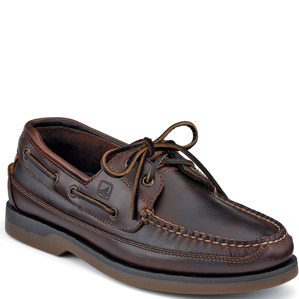 Image for Sperry Men's Mako 2-Eye Canoe Moc Boat Shoes - Amaretto from bootbay