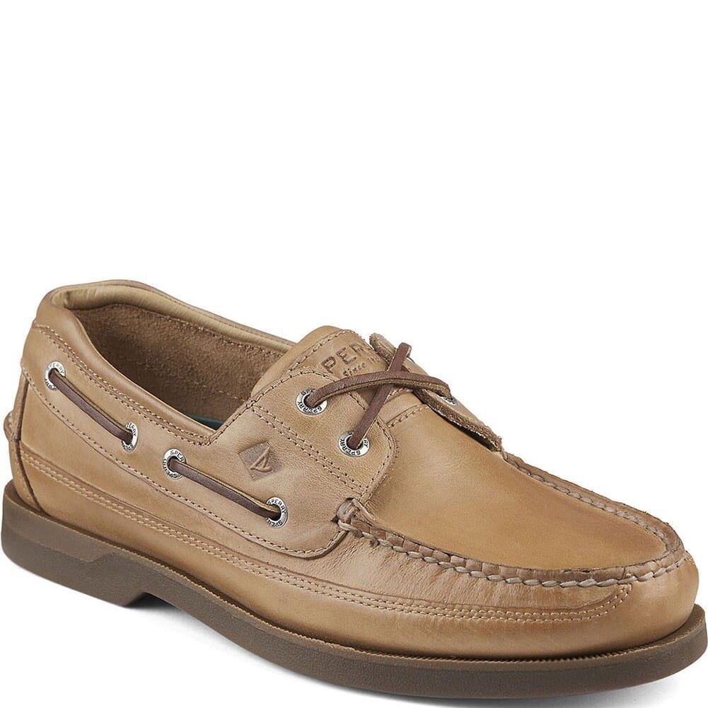 Image for Sperry Men's Mako 2-Eye Canoe Moc Boat Shoes - Oak from bootbay
