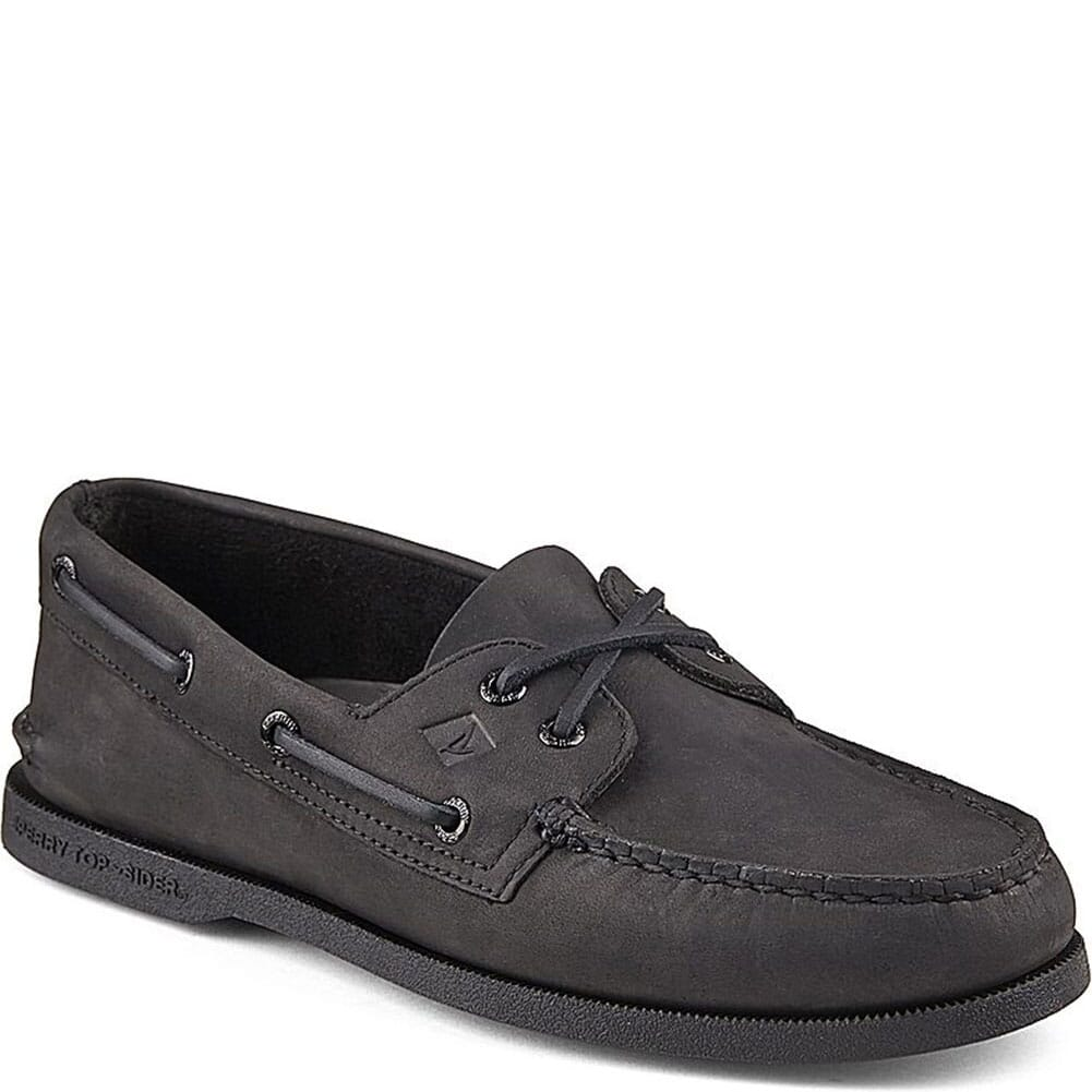 Image for Sperry Men's Authentic Original 2-Eye Boat Shoe - Black from bootbay