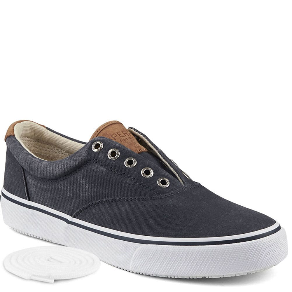 Image for Sperry Men's Striper CVO Sneaker - Navy Salt Washed Twill from bootbay