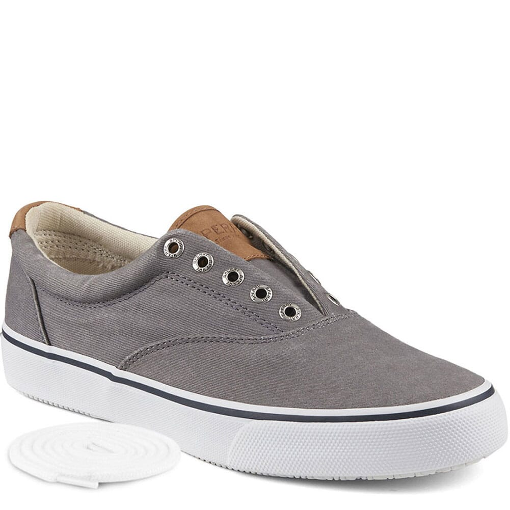 Image for Sperry Men's Striper CVO Sneaker - Grey Salt Washed Twill from bootbay