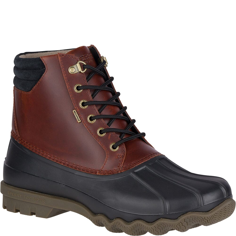 Image for Sperry Men's Avenue Duck Boots - Black/Amaretto from bootbay