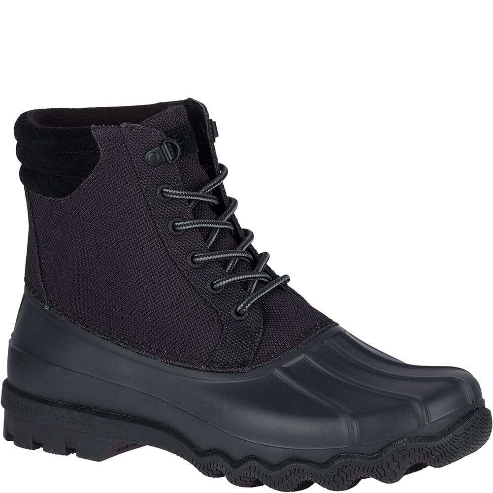 Image for Sperry Men's Avenue Duck Boots - Black/Cordura from bootbay