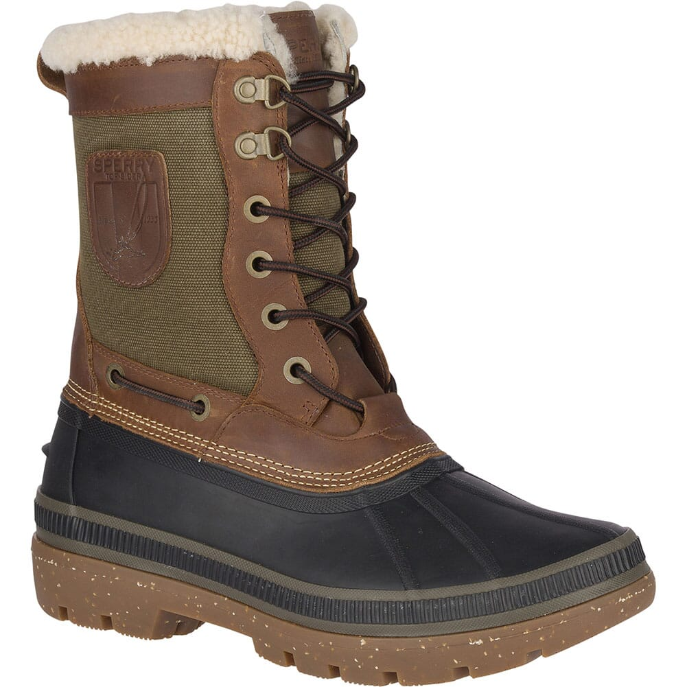 Image for Sperry Men's Ice Bay Tall Pac Boots - Brown/Olive from bootbay