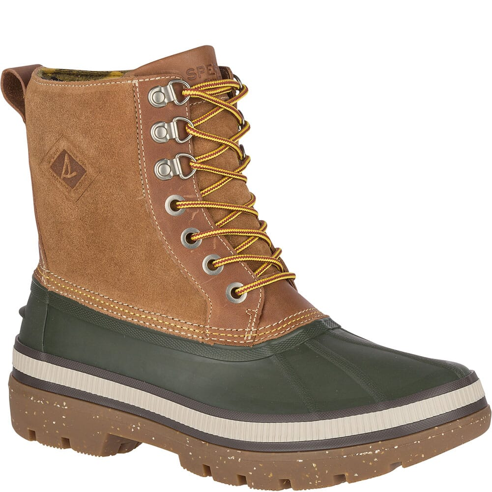 Image for Sperry Men's Ice Bay Tall Pac Boots - Olive/Tan from bootbay