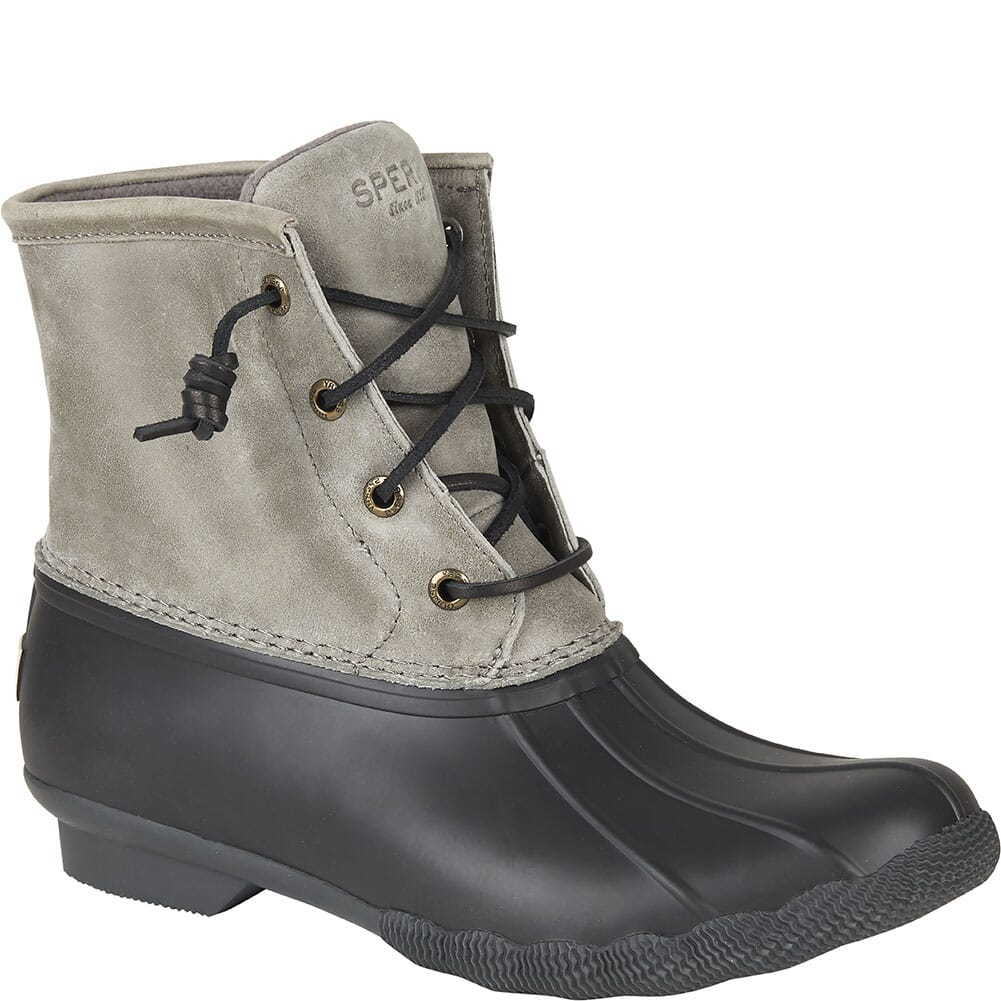 Image for Sperry Women's Saltwater Duck Boots - Black/Grey from bootbay