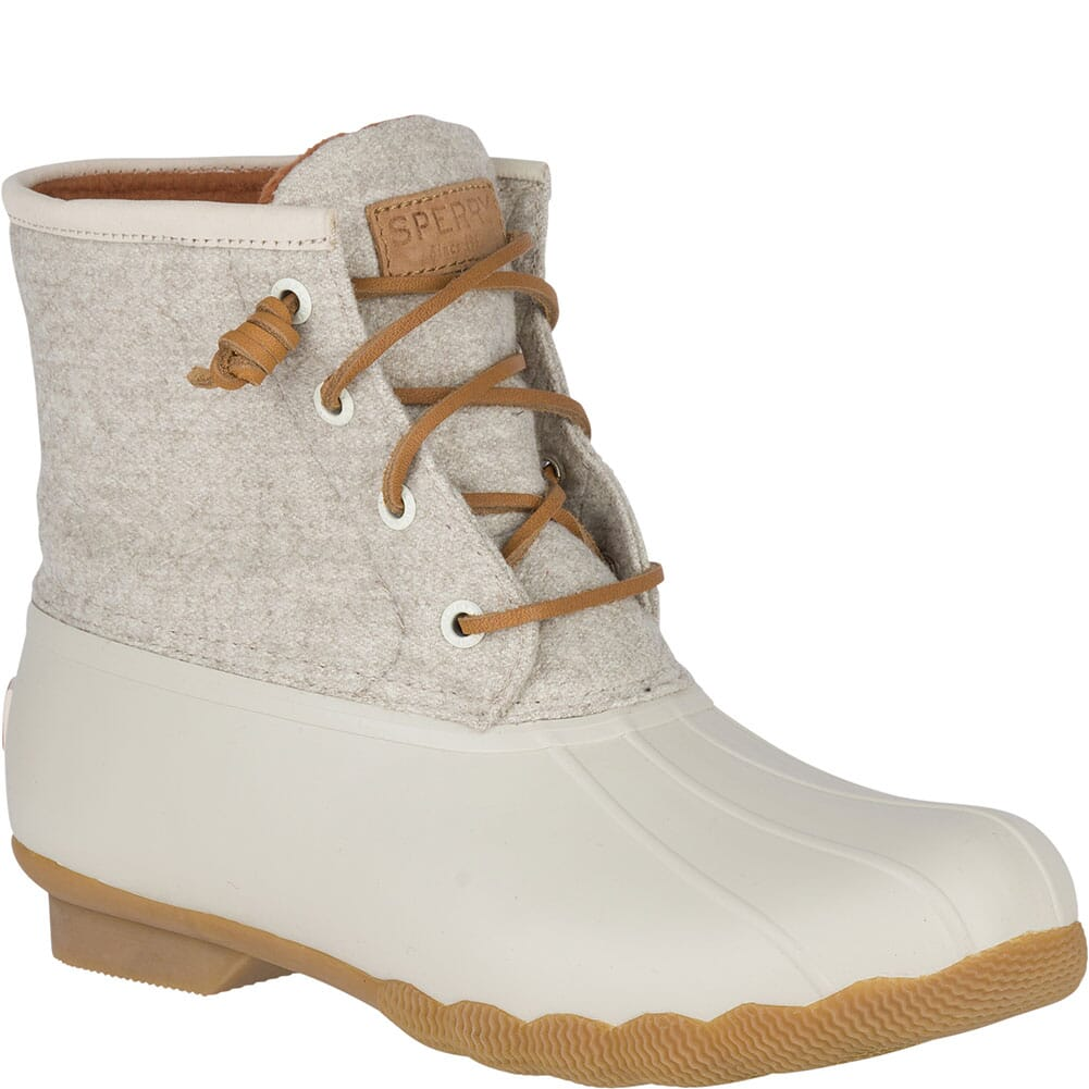 Image for Sperry Women's Saltwater Wool Embossed Duck Boots - Oat from elliottsboots