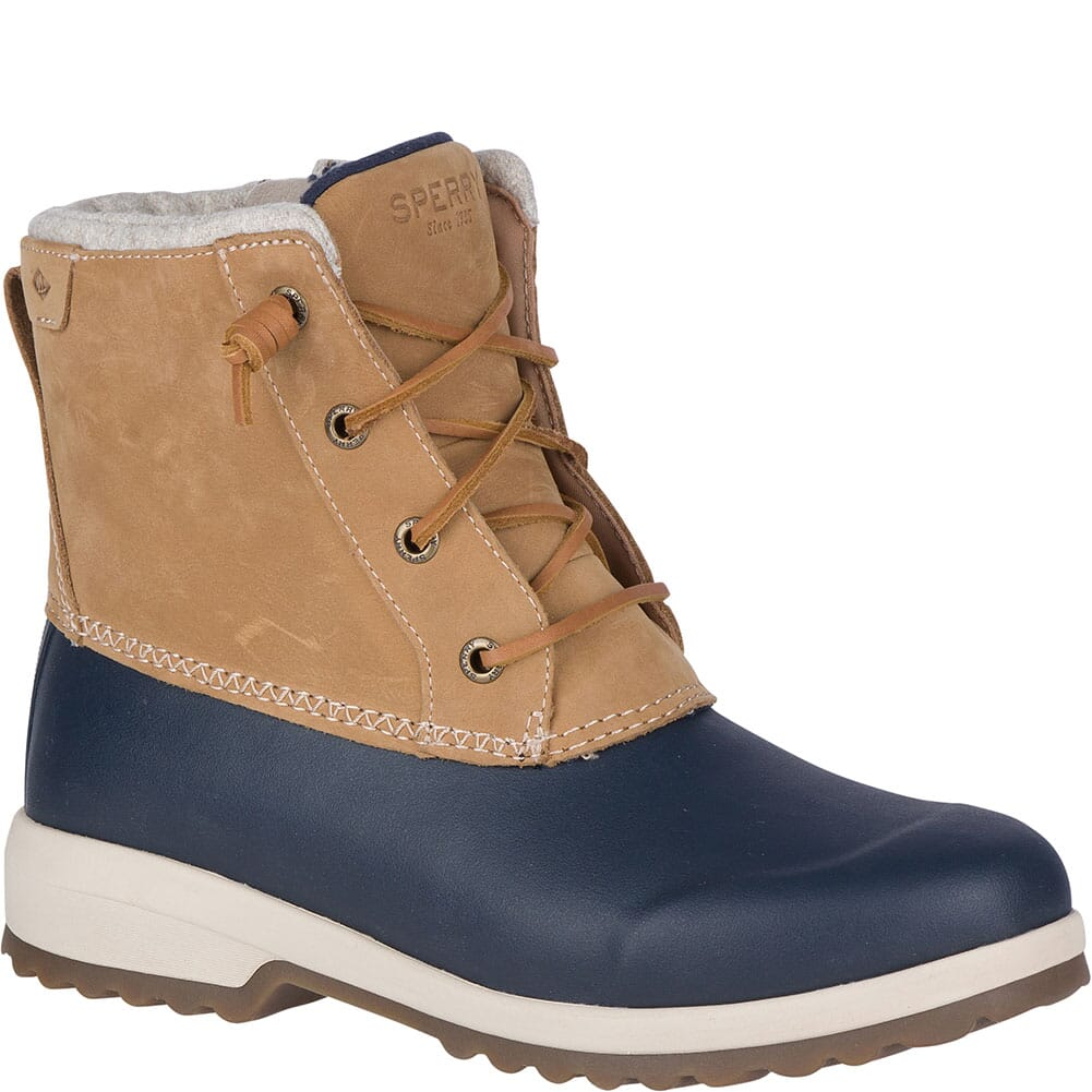 Image for Sperry Women's Maritime Repel Snow Pac Boots - Tan/Navy from bootbay