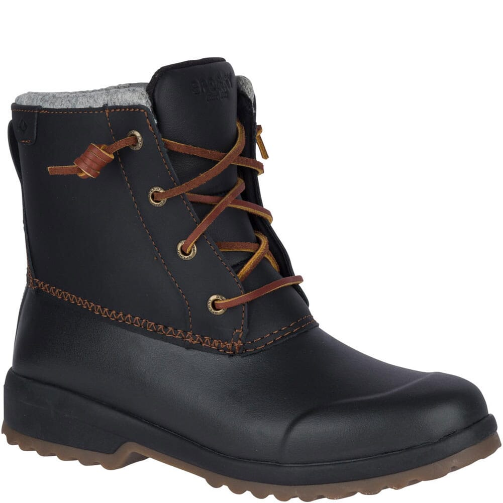 Image for Sperry Women's Maritime Repel Snow Pac Boots - Black from bootbay