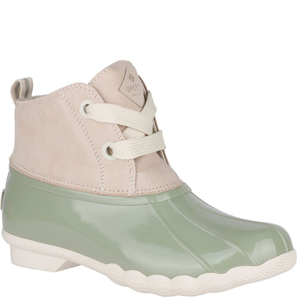 Image for Sperry Women's Saltwater 2-Eye Duck Boots - Ivory/Sage from bootbay