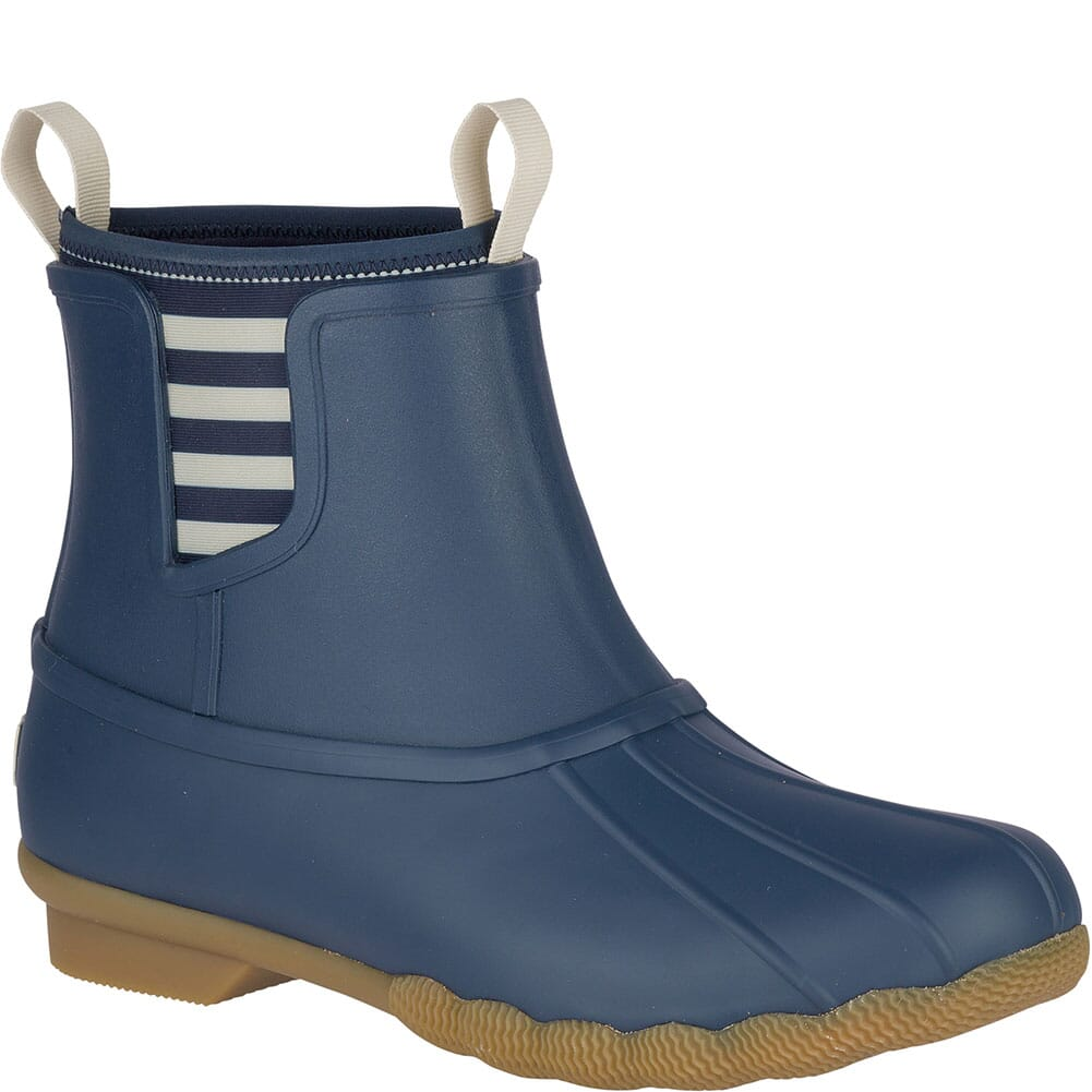 Image for Sperry Women's Saltwater Rubber Chelsea Duck Boots - Navy from bootbay