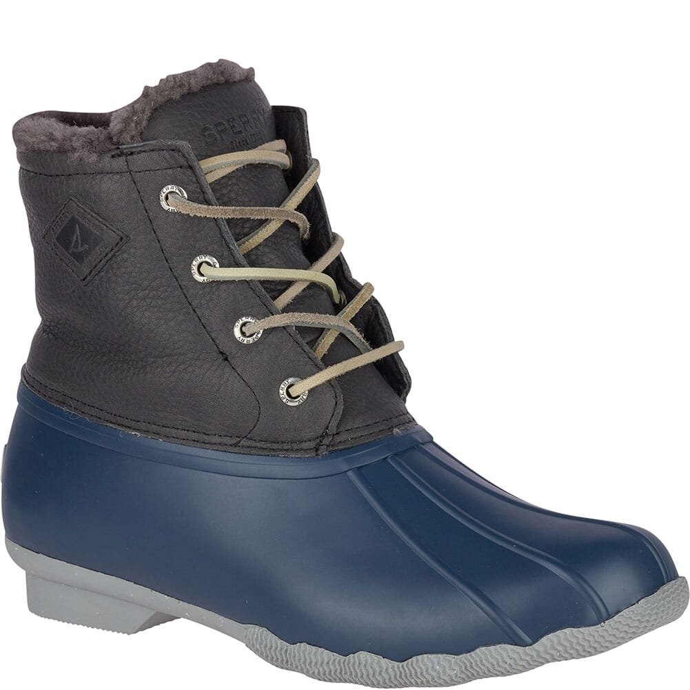 Image for Sperry Women's Saltwater Winter Luxe Duck Boots - Grey/Navy from bootbay