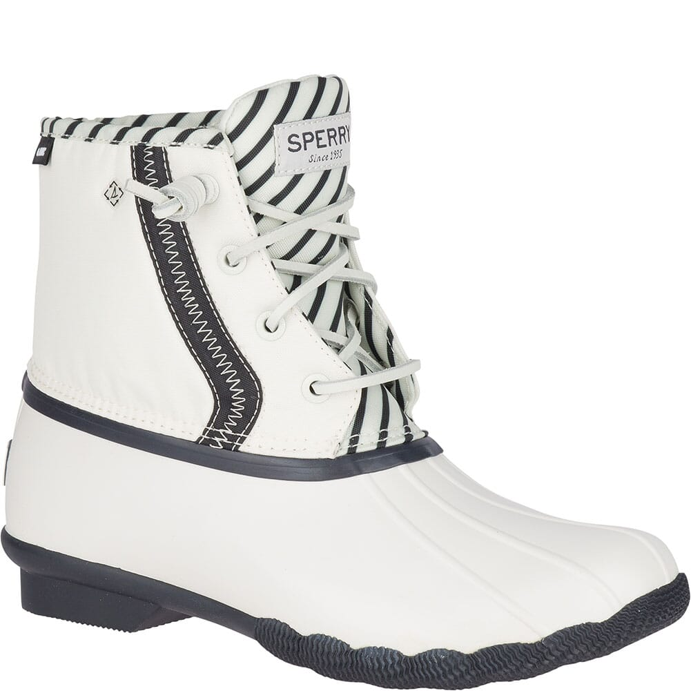 Image for Sperry Women's Saltwater BIONIC Duck Boots - Off White from elliottsboots