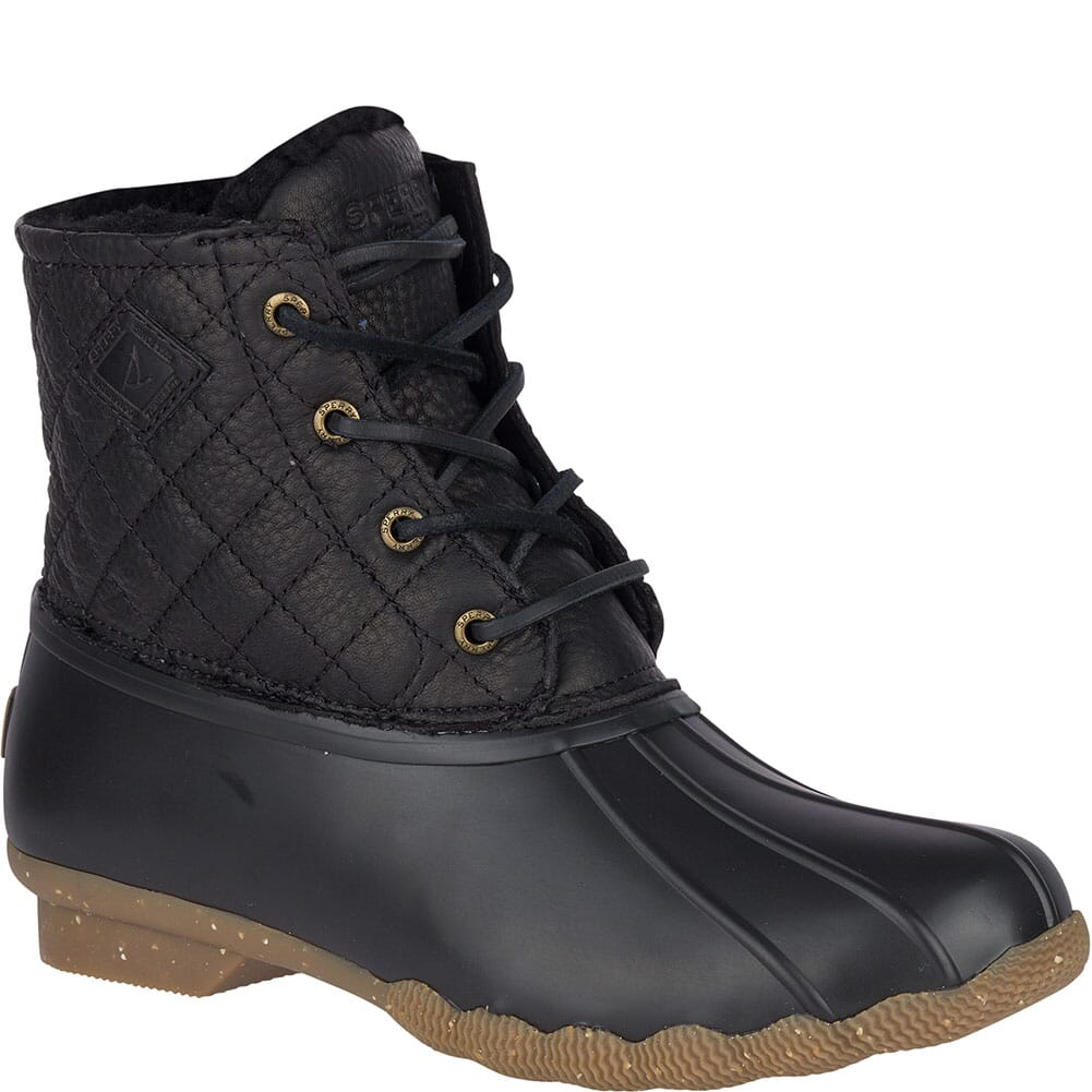 Image for Sperry Women's Saltwater Winter Luxe Duck Boots - Black Quilt from elliottsboots