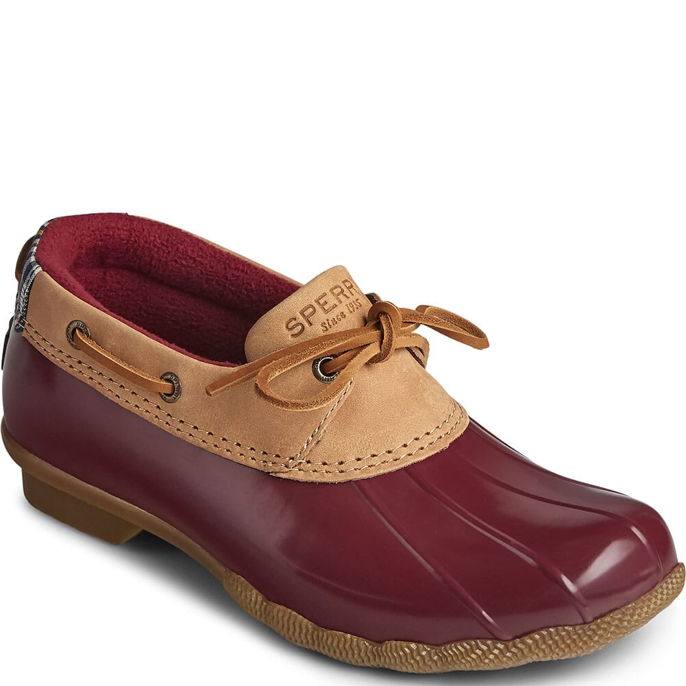 Image for Sperry Women's Saltwater 1-Eye Duck Shoes - Tan/Cordovan from bootbay