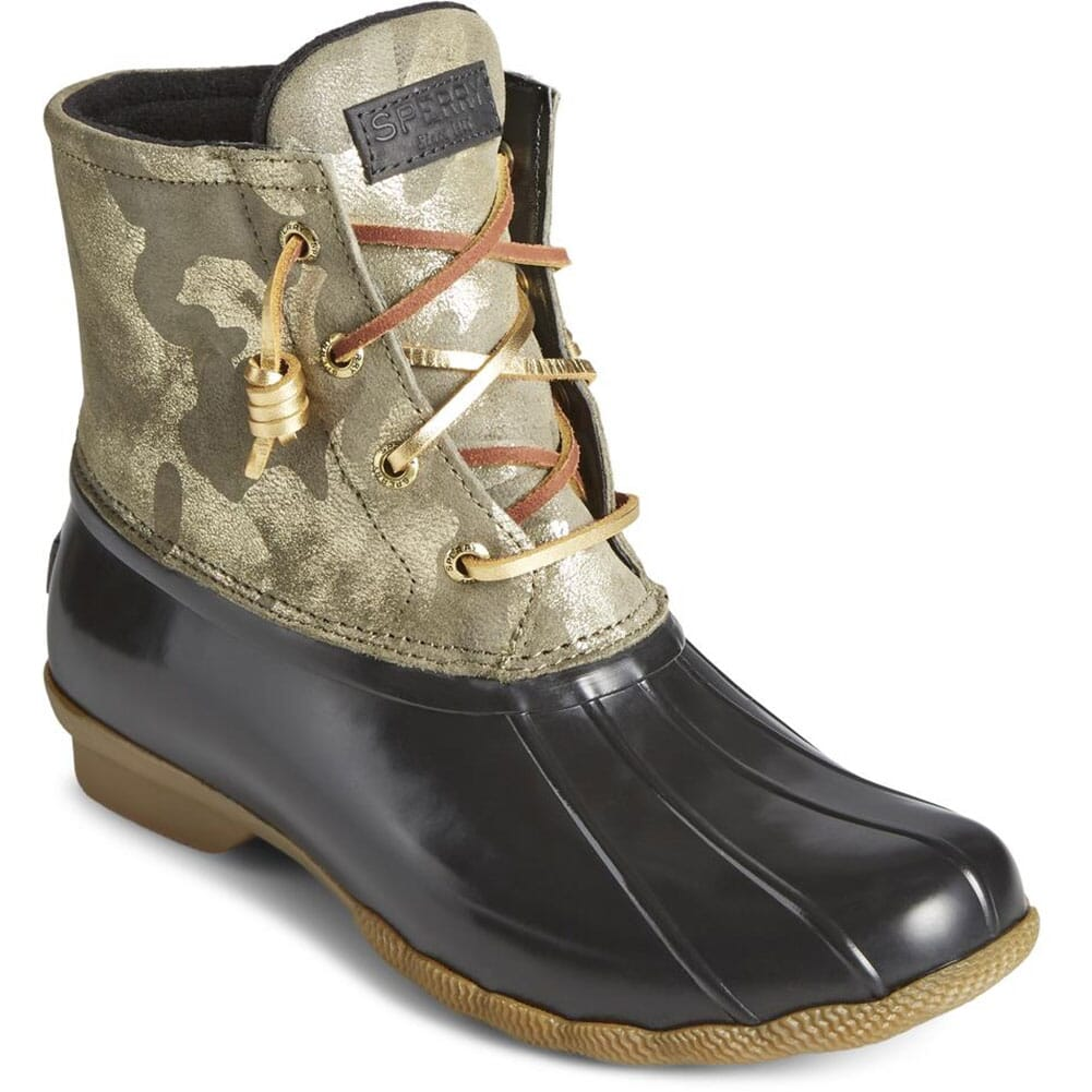 Image for Sperry Women's Saltwater Leather Pac Boots - Camo Olive from bootbay