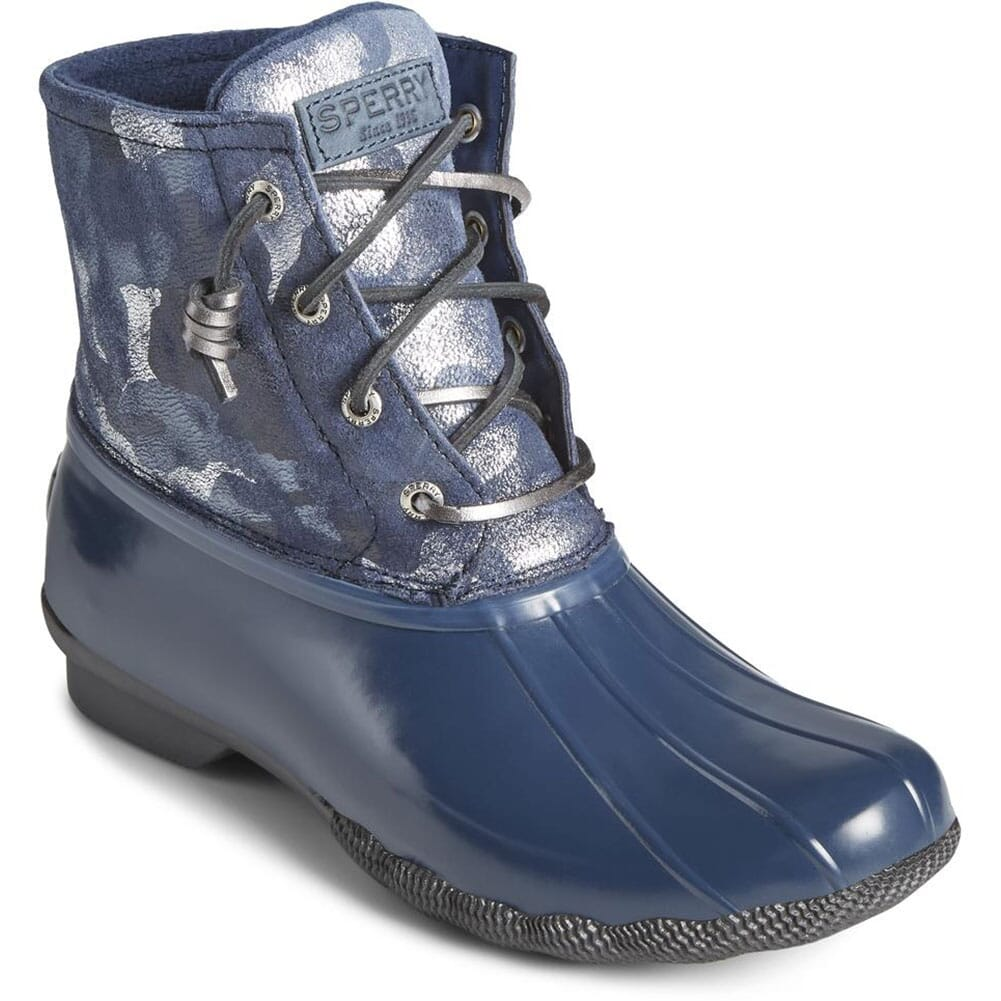 Image for Sperry Women's Saltwater Leather Pac Boots - Camo Blue from bootbay