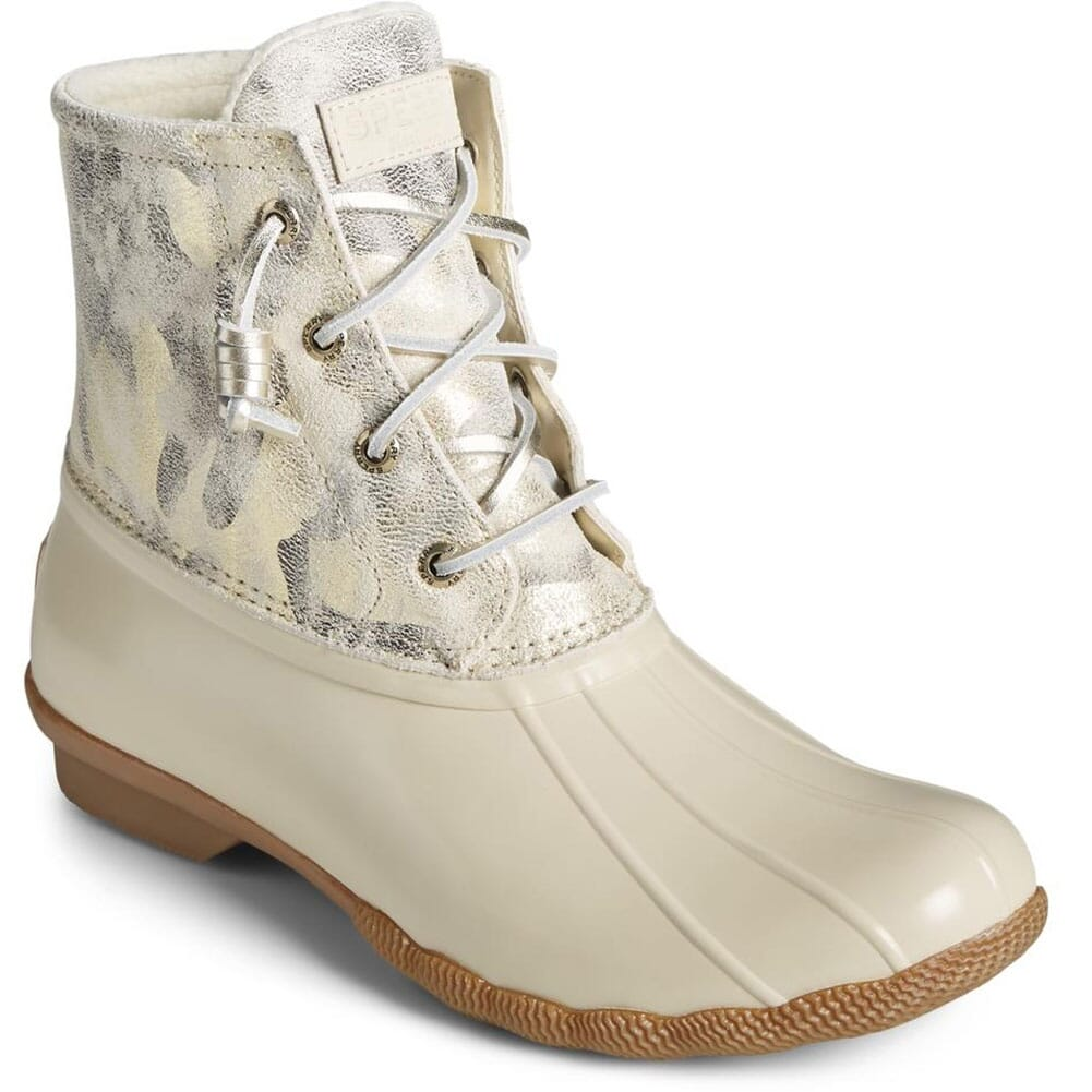 Image for Sperry Women's Saltwater Leather Pac Boots - Camo Ivory from bootbay
