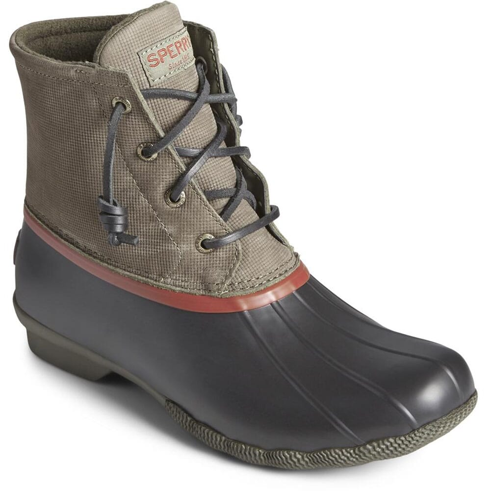 Image for Sperry Women's Saltwater Leather Pac Boots - Olive from elliottsboots