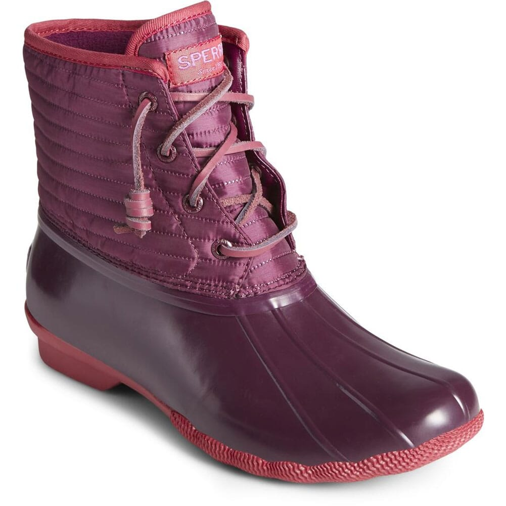 Image for Sperry Women's Saltwater Nylon Pac Boots - Persian Red from elliottsboots