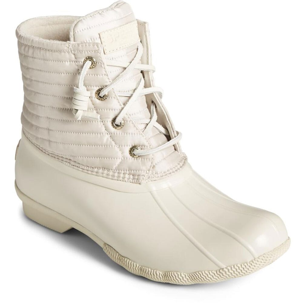 Image for Sperry Women's Saltwater Nylon Pac Boots - Ivory from elliottsboots