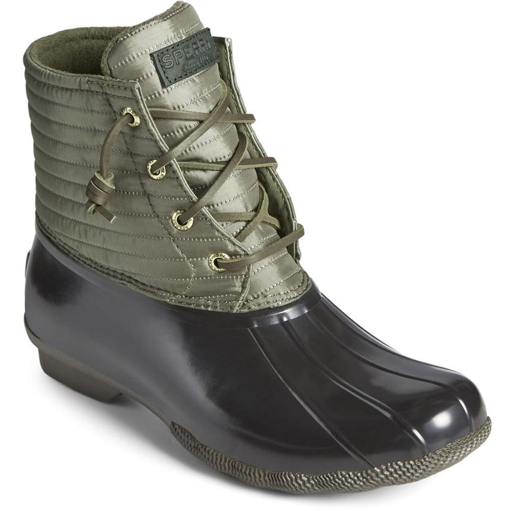 Image for Sperry Women's Saltwater Nylon Pac Boots - Olive from elliottsboots