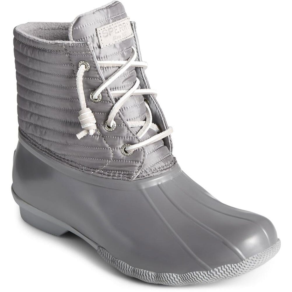 Image for Sperry Women's Saltwater Nylon Pac Boots - Grey from elliottsboots