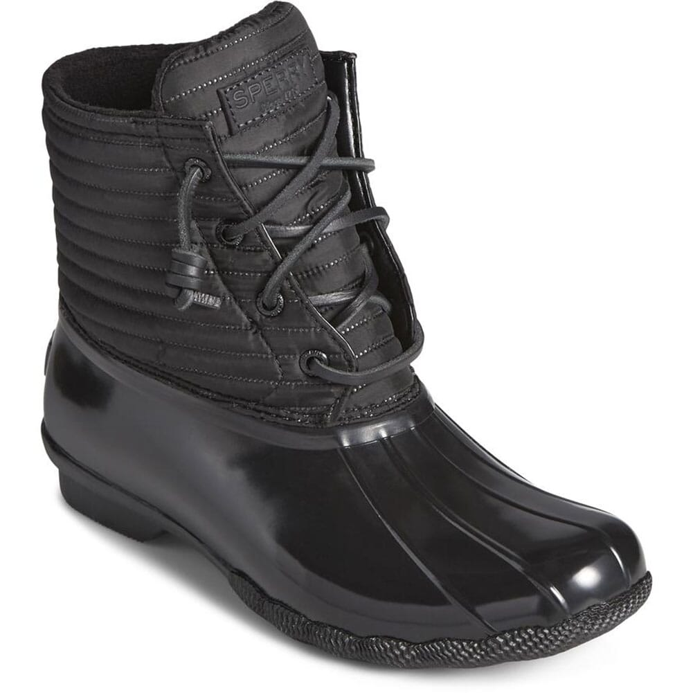 Image for Sperry Women's Saltwater Nylon Pac Boots - Black from elliottsboots