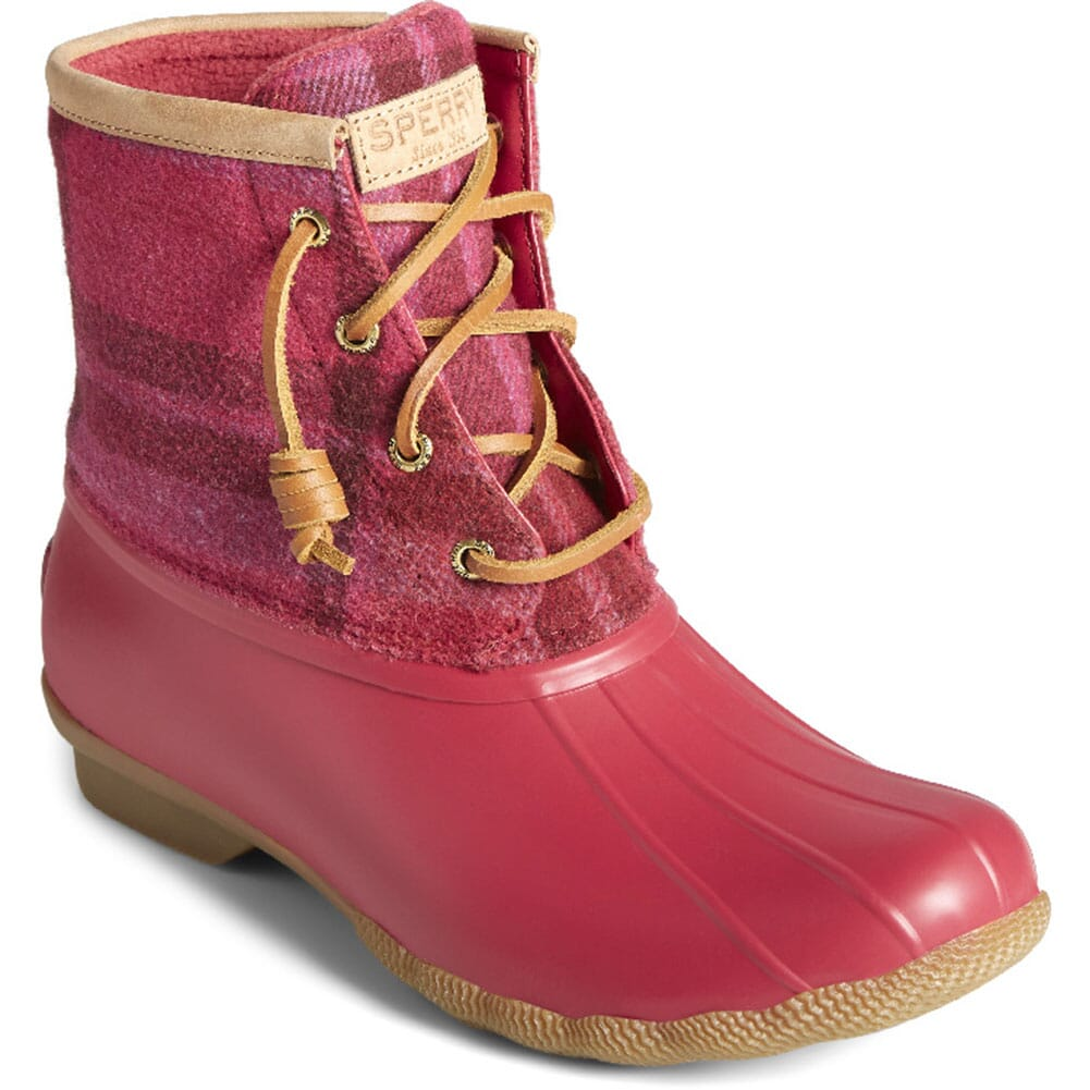 Image for Sperry Women's Saltwater Wool Plaid Pac Boots - Red from elliottsboots