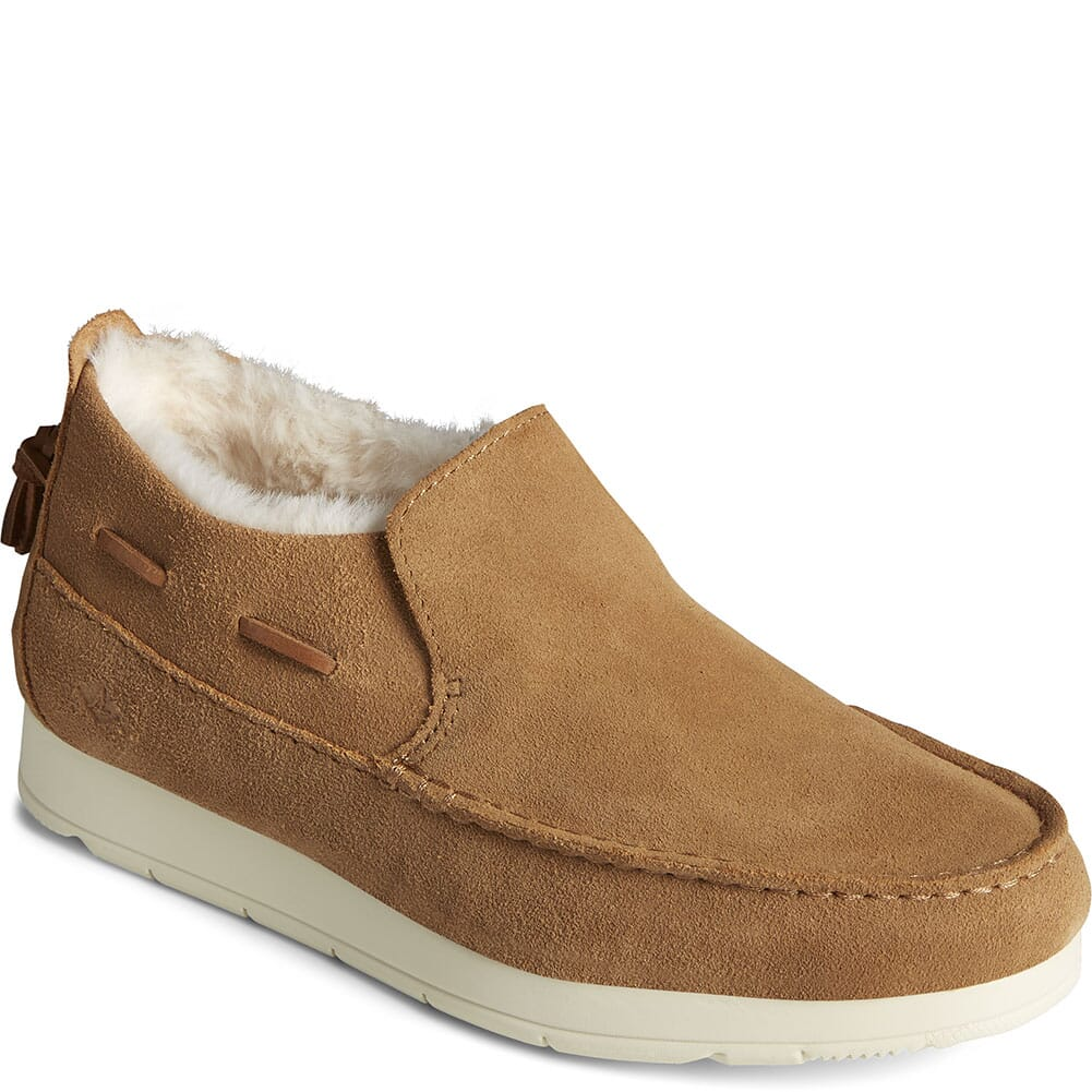 Image for Sperry Women's Moc-Sider Basic Core Suede Casual Shoes - Tan from bootbay