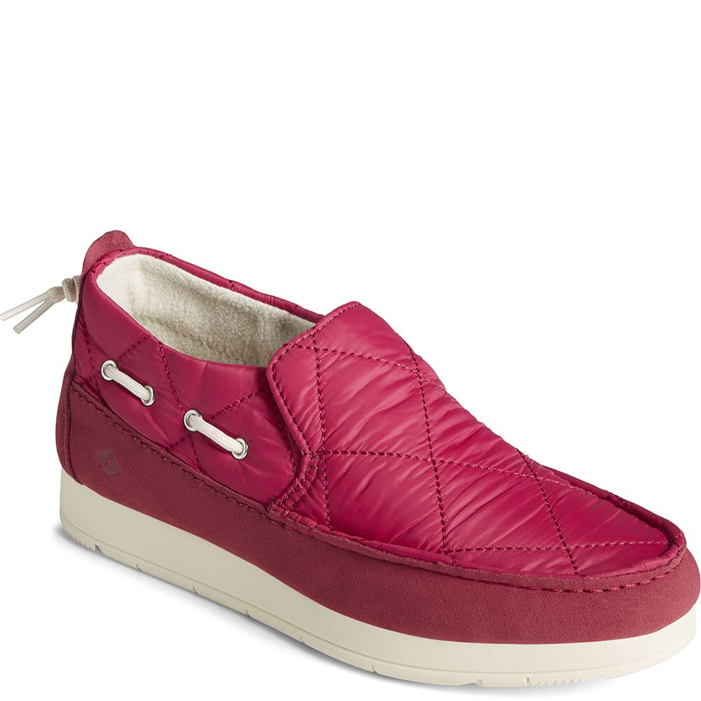 Image for Sperry Women's Moc-Sider Nylon Solid Casual Shoes - Red from bootbay