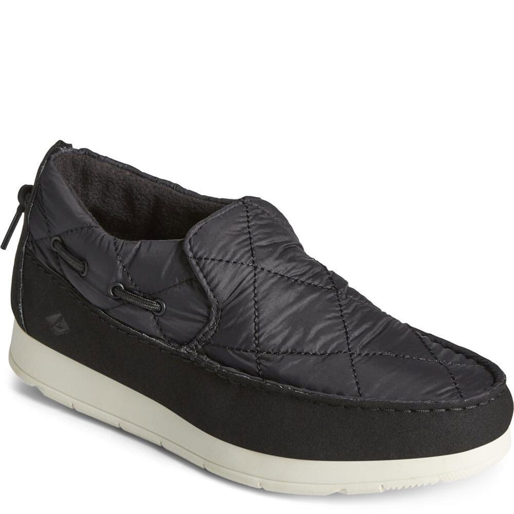 Image for Sperry Women's Moc-Sider Nylon Solid Casual Shoes - Black from bootbay