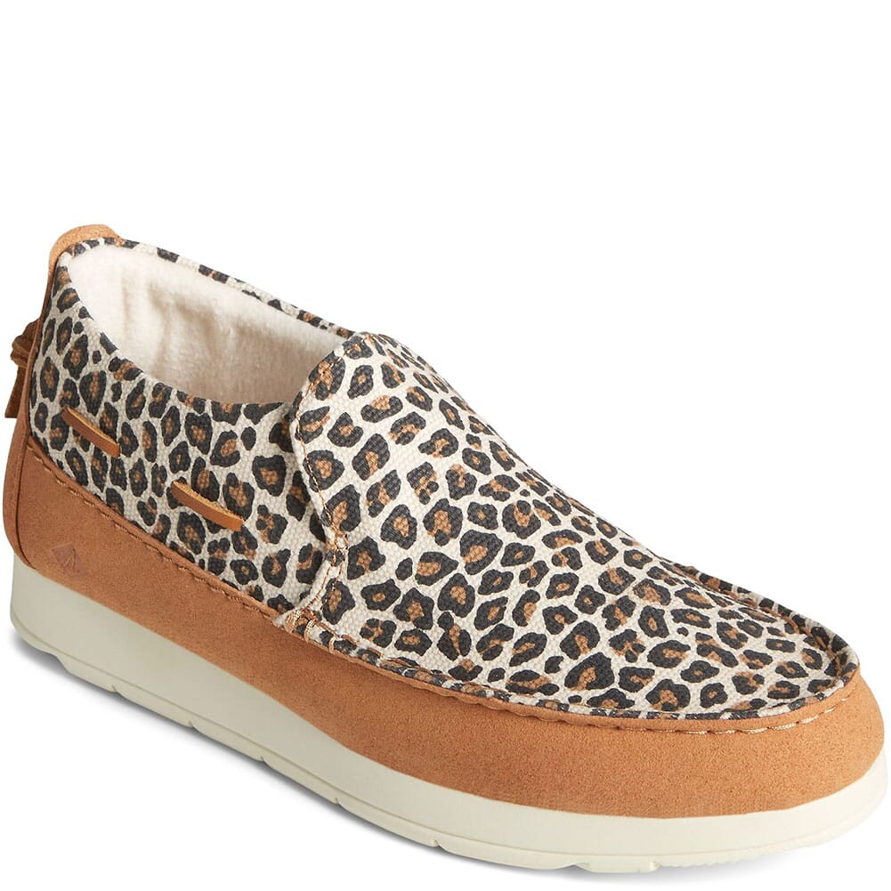 Image for Sperry Women's Moc Sider Novelty Textile Shoes - Tan/Leopard from bootbay