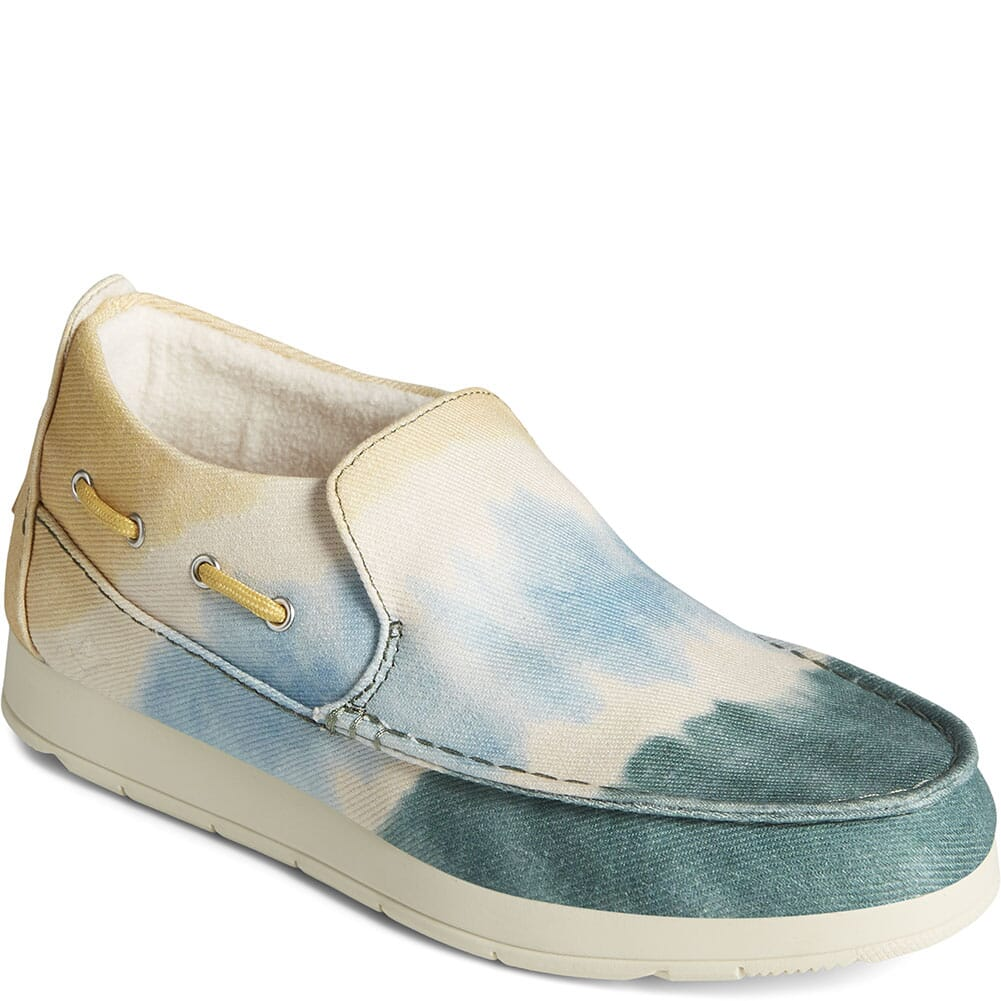 Image for Sperry Women's Moc Sider Novelty Textile Shoes - Yellow/Blue/Green from bootbay
