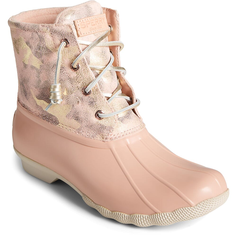 Image for Sperry Women's Saltwater Leather Pac Boots - Camo Pink from elliottsboots
