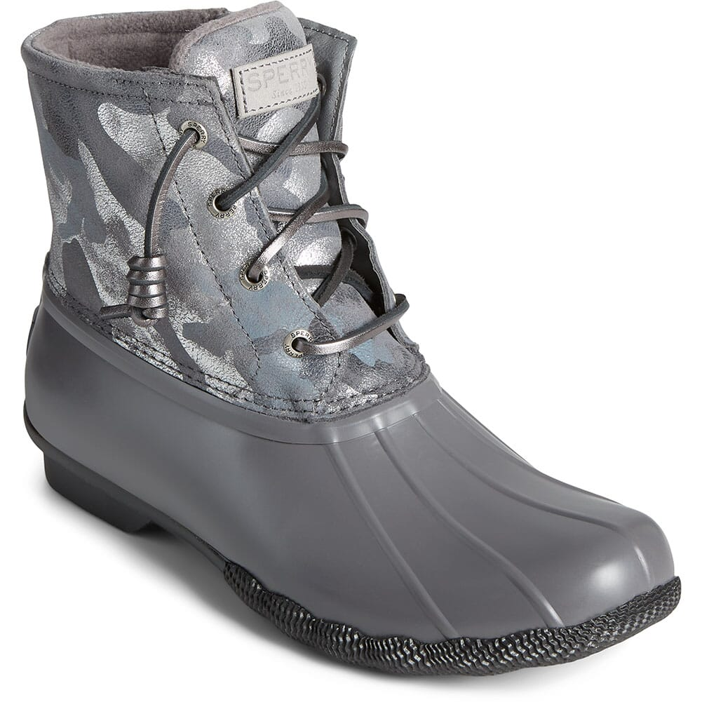 Image for Sperry Women's Saltwater Leather Pac Boots - Silver from elliottsboots